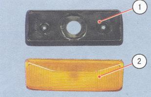 1 - прокладка, 2 - корпус указателя поворота