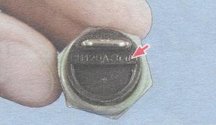 маркировка  датчика контрольной лампы недостаточного давления масла