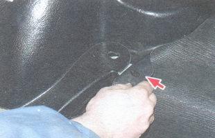 держатель ковра пола багажника