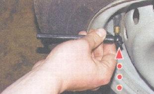 снижение давления в шине