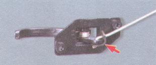 резиновый держатель тяги замка двери
