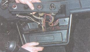 монтажная планка - панель радиоприемника