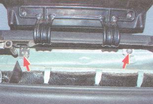 гайки верхнего крепления панели приборов ваз 2106