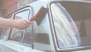 стекла и боковые поверхности автомобиля