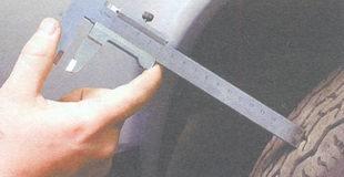 проверка остаточной глубины протектора