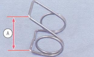проверка размера А пружины клапана