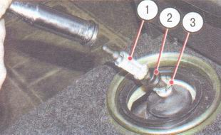 1 - дистанционная втулка, 2 - упругая втулка, 3 - запорная втулка
