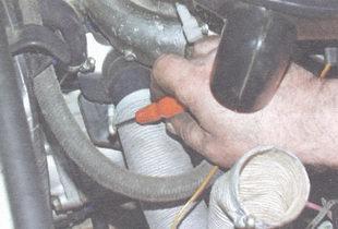 хомут шланга подвода теплого воздуха к воздушному фильтру