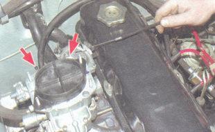 винты крепления тяги управления воздушной заслонкой