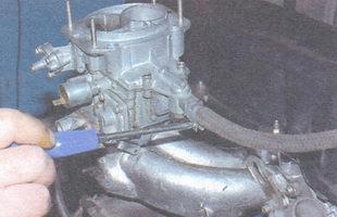 хомут шланга подвода топлива в карбюратор