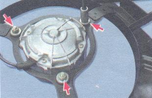 гайки крепления электродвигателя к кожуху