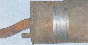 металлическая заплатка (временный ремонт глушителя)