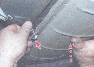 ремни подвески удерживающие глушитель