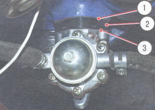 1 - уплотнительная прокладка, 2 - теплоизоляционная проставка, 3 - регулировочная прокладка