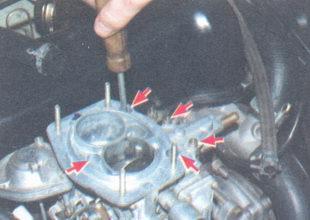 винты крепления крышки карбюратора ваз 2106