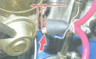центральный высоковольтный провод крышки трамблера
