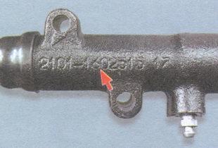 маркировка на корпусе рабочего цилиндра сцепления