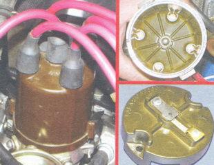 крышка трамблера - ротор распределителя зажигания