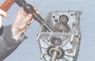 наружное кольцо подшипника и шестерня вала