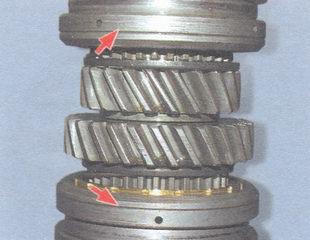 кольцевые проточки (показаны стрелками)